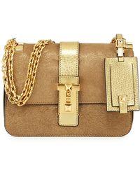 chloe handbags replica - Chlo�� Gabrielle Metallic Clutch Bag in Gold (PALE GOLD) | Lyst