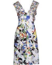 Jil Sander Knee-Length Dress white - Lyst