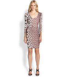 Just Cavalli Jersey Leopardprint Dress - Lyst