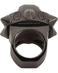 Ambush Black Skull Ring - Lyst