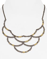 "Alexis Bittar Elements Crystal Studded Scalloped Spur Bib Necklace, 16"" - Lyst"