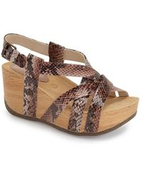 Bussola Orly Leather Slingback Sandals - Brown