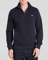 Lacoste Mock Neck Sweater - Lyst