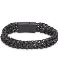 Vitaly - Etid Matte Black Chain Bracelet - Lyst