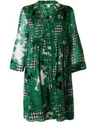 Diane von Furstenberg Printed Silk Chiffon Dress - Lyst