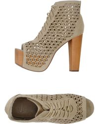 Jeffrey Campbell Beige Ankle Boots - Lyst
