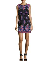 Nanette Lepore Jodhpur Sleeveless Printed Mini Dress - Lyst
