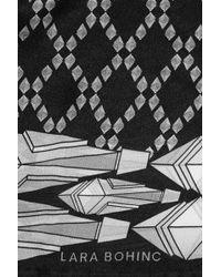 Lara Bohinc - Fauna Border Printed Silk Scarf - Lyst