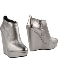 Balmain Ankle Boots - Metallic