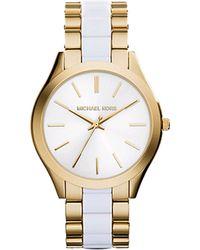 Michael Kors Slim Runway Watch gold - Lyst