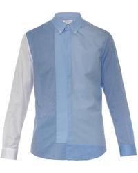 Maison Margiela Bi-Colour Cotton Shirt - Lyst