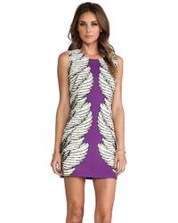 Blaque Label Print Dress in Purple - Lyst