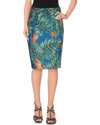 Scaglione - Knee Length Skirt - Lyst