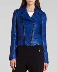 BCBGMAXAZRIA Bcbg Max Azria Jacket Tara Moto Faux Leather - Lyst