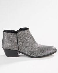 Sam Edelman Silver Petty Boot - Lyst