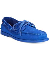 Tommy Hilfiger Suede Bowman Boat Shoes - Lyst