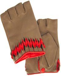 Thomasine Gloves - Milan Mitaine Twisted Wrist Deco Beige - Lyst