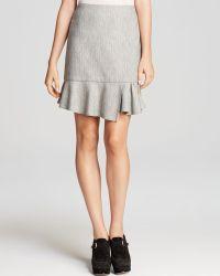 Tibi Skirt  Daria Herringbone Ruffle - Lyst