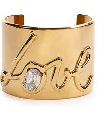 Lanvin - Brass Love Cuff Bracelet - Lyst