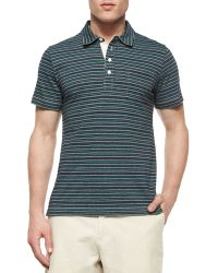 Billy Reid - Pensacola Striped Jersey Polo Shirt & Wynn Triple-Washed Chino Shorts - Lyst