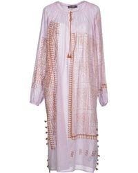 Antik Batik Purple Knee-Length Dress - Lyst