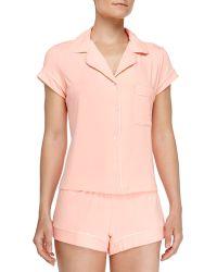 Eberjey Gisele Boxer-Short Jersey Pajama Set - Lyst
