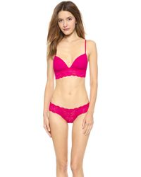 Cosabella Never Say Never Soft Padded Bra - Bright Grenadine - Lyst