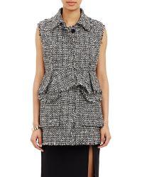 Erdem Tweed Zip-Away Vest black - Lyst