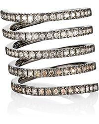 Roberto Marroni - Women's Mixed-diamond Spiral Ring - Lyst