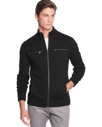 Calvin Klein Full-zip Solid Core Fleece Jacket - Lyst