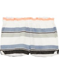 lemlem - Saali Striped Cotton-blend Gauze Shorts - Lyst