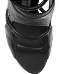 Camilla Skovgaard Cutout Leather Platform Sandals - Black
