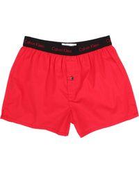 Calvin Klein Matrix Woven Slim Fit Boxer - Lyst