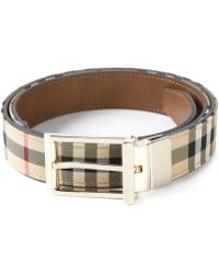 Burberry Reversible Check Belt - Lyst