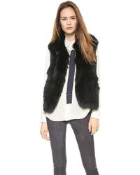 Theory Georgian Hanalee Fur Vest   - Lyst