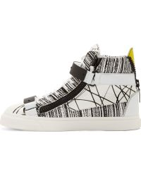 Giuseppe Zanotti White Abstract Print High_top Sneakers - Lyst