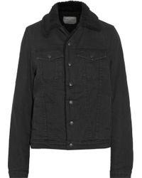 Proenza Schouler Shearling-lined Denim Jacket - Lyst