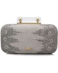 Vince Camuto Onyx Clutch - White