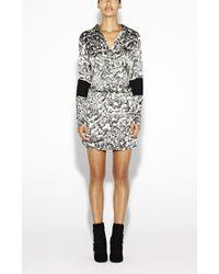 Nicole Miller River Stone Blouson Dress - Lyst