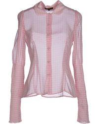 Chloë Sevigny x Opening Ceremony Shirt pink - Lyst