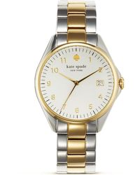 Kate Spade Seaport Grand Two Tone Watch, 28Mm - Lyst