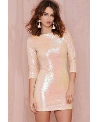 Nasty Gal Glamorous Shine Down Sequin Dress - Lyst