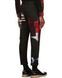 Junya Watanabe Black Patchwork Jeans - Lyst