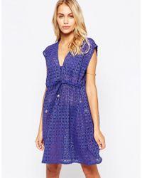 Freya Spirit Tunic Beach Dress - Indigo - Purple