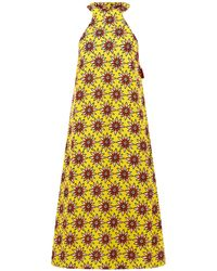 House of Holland Flower Power Dress yellow - Lyst