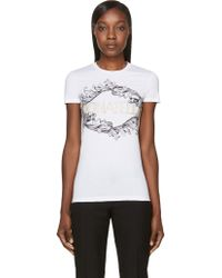 Versace White Donatella Embroidered T_shirt - Lyst