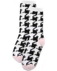 Pj Salvage - Houndstooth Socks - Black - Lyst