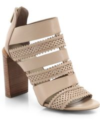 See By Chloé Perforated Star Leather Sandals - Lyst