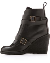 See By Chloé - Wedge Booties - Nero/Nero - Lyst