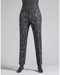 Dolce & Gabbana | Trousers In Printed Cotton Drill | Lyst